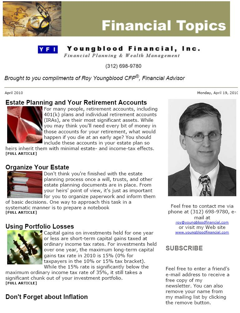 yfi newsletters